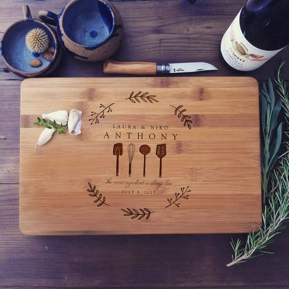 Personalized Cutting Board, Custom Engraved Chopping Board, Wood Butcher Block, Wedding Gift, Housewarming Gift, Realtor Gift