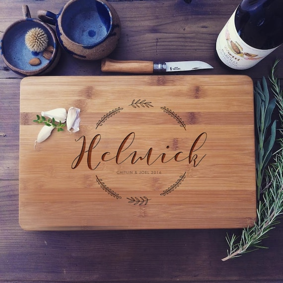 Custom Cutting Board, Bamboo Cutting Board, Wood Chopping Block, Custom Cheese Board, Engraved Board, Unique Wedding Gift, Housewarming Gift