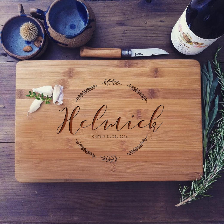 Custom Cutting Board Personalized Butcher S Block Custom Cheese Board Or Charcuterie Board Newlyweds Gift Unique Wedding Gift Idea