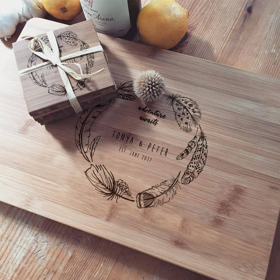 Custom Cutting Board, Chopping Block, Wood Chopping Board, Custom Cheese Board, Couple Cutting Board, Newlyweds Gift, Custom Closing Gift