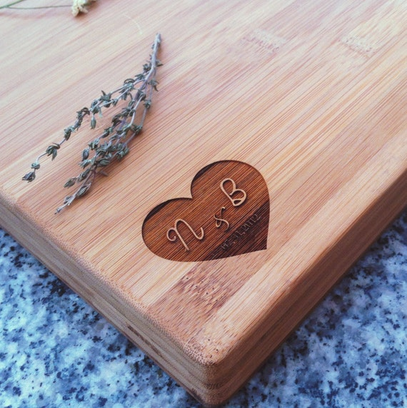 Personalized Butcher Block, Custom Cutting Board, Bamboo Cutting Board, Couple Cutting Board, Cheese Board, Initials Cutting Board