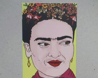 Frida Kahlo A6 postcard print
