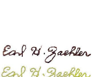 Original Handwriting for your embroidered gift hankie. Persons Passed or Present carefully copied.
