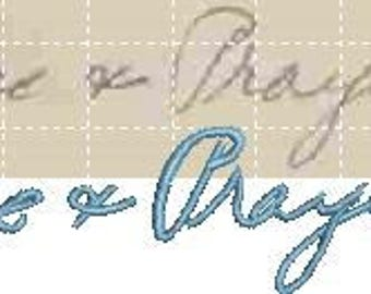 Original Handwriting for your embroidered gift. Persons Passed or Present carefully copied.