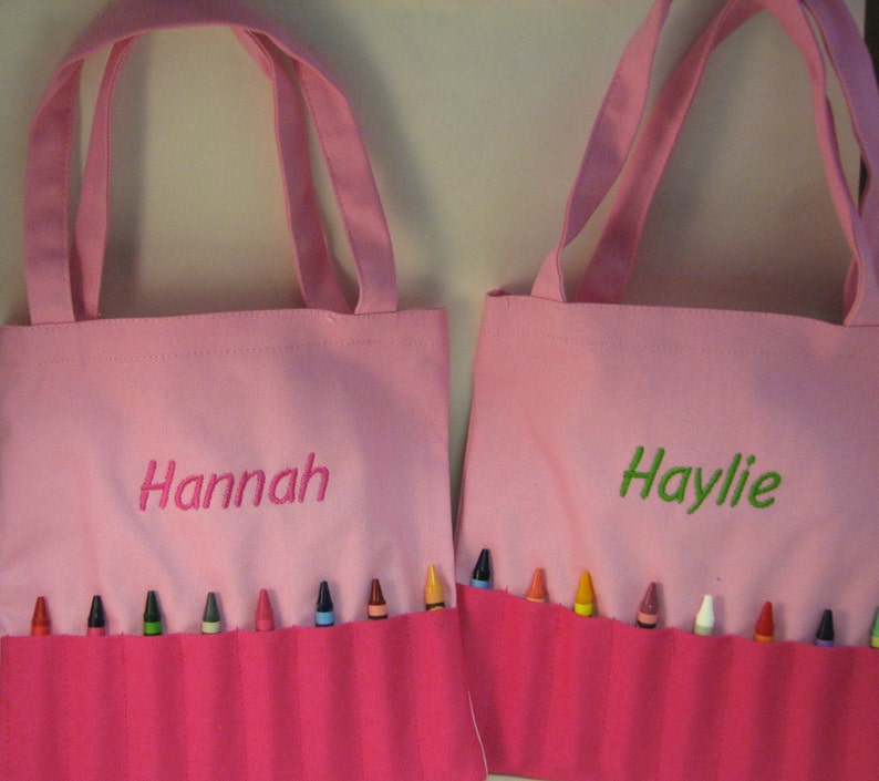 Inexpensive Personalized Crayola Bag for Boy or Girl