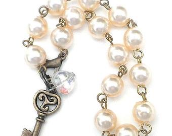 SALE, Faux Pearl Bracelet