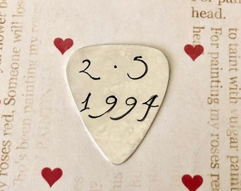 SPECIAL DATE Guitar Pick - Remember The Date - Plectrum - Anniversary Date Reminder - Special Date - Useful Gift - Functional Gift