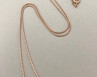 Linked CHAIN Necklaces, 18 inch, 22 inch, Sterling Silver, Bronze, Copper, Stainless Steel, Rose Gold Plate, Gold Plate