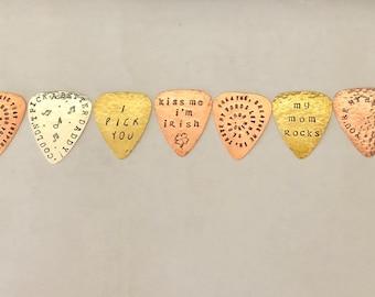 Oops! Seconds Guitar Pick,  Destash, Rejects, Mistake Picks, Sale Picks, Metal Tester Pick, Sample Sale, Stocking Stuffer, Just For Fun