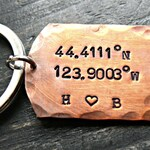 Custom Coordinates Keychain