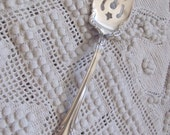 Avalon Fork Silver Plate Large Serving Pastry Meat Fork - Avalon 1901 Pattern RARE