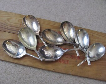 No Handles Lot of 9 Silver Plate Casserole Serving Spoons Bowls Only