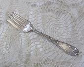 Antique Silver Plate Large Serving Fork - La Concorde 1910 Pattern - Wm A Rogers