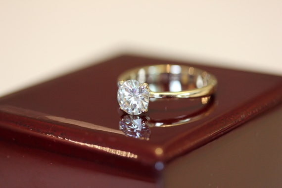 70 Mm Fur Immer Brillante Moissanite Verlobungsring In 14k Etsy