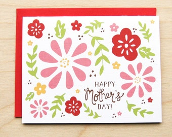 Floral Mom- Mother's Day Card