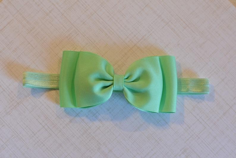 Mint Bow Headband  Big Bow Headband  Mint Green  Baby Bow Headband  Mint Baby Headband  Baby Girls Hair Accessories  Easter Headband