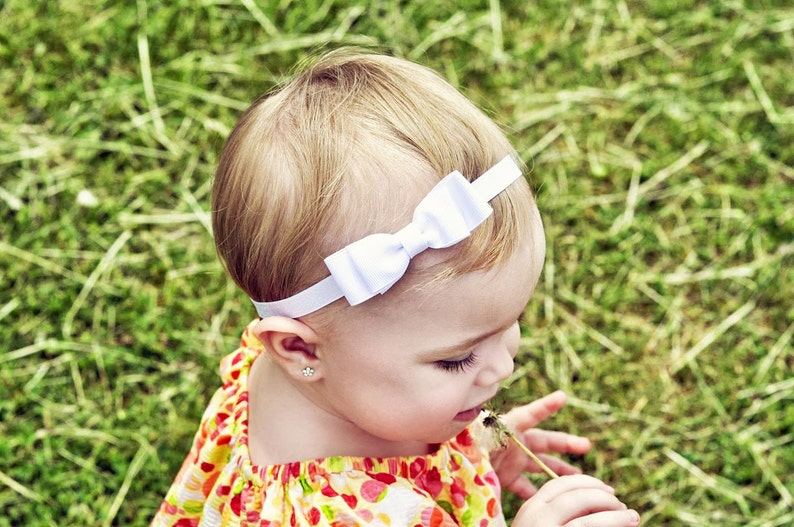 White and Blue Striped Bow Headband Baby Girl Hair Accessories Girls Hair Accessories July 4th Headband Fourth of July Headband Red