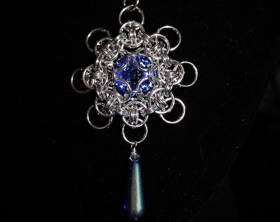 Blue Snowflake Neckwire