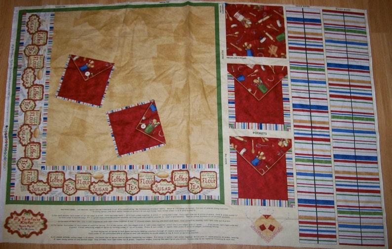 A Wonderful My Farmhouse Kitchen Apron Fabric Panel Free Us Etsy