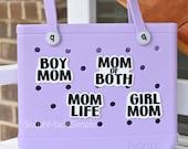 Mom Life Bogg Bag Button, Mom Life Bogg Bag Charm, Beach Bag Charm, Bogg Bag Gift, Boy Mom Girl Mom Bogg Charm, Bogg Bag Accessories
