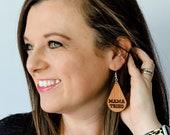 Wooden Mama Tried Earrings, Merle Haggard Earrings, Country Music Earrings, Southern Earrings, Classic Country Music, Merle Haggard