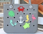 Water Resistant 3D Printed Sea Creature Bogg Bag Buttons, Bogg Bag Charms, Bogg Bag Accessories, Pool Bag Charms, Beach Bag Charms