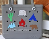 Water Resistant 3D Printed Camping Midwest Themed Bogg Bag Buttons, Bogg Bag Charms, Bogg Bag Accessories, Pool Bag Charms, Beach Bag Charms