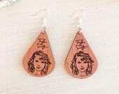 Taylor Swift Inspired Wooden Earrings
