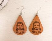 Morgan Wallen Wooden Earrings, Country Music Earrings, Morgan Wallen Gift, Country Music Gift