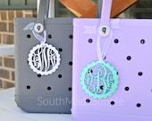 Water Resistant 3D Printed Monogram Bogg Bag Tag, Monogram Bag Tag, Beach Bag Tag, Plastic Bogg Bag Tag, Custom Bag Tag, Pool Bag Tag