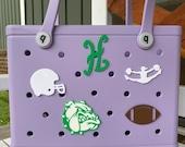 Holtville Bulldogs Bogg Bag Buttons, Bogg Bag Charms, Bogg Bag Accessories, Bogg Bag Bits, High School Mascot Bogg Bag Buttons