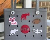 Alabama Crimson Tide 3D Printed Bogg Bag Buttons, Bogg Bag Charms, Bogg Bag Accessories, Football Bogg Bag Buttons, Roll Tide Bogg Bag