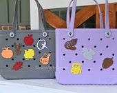 Water Resistant 3D Printed Fall Themed Bogg Bag Buttons, Bogg Bag Charms, Bogg Bag Accessories, Pool Bag Charms, Beach Bag Charms