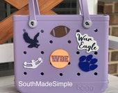Auburn War Eagle 3D Printed Bogg Bag Buttons, Bogg Bag Charms, Bogg Bag Accessories, Football Bogg Bag Buttons, Auburn Bogg Bag