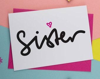 Personalised Sister Birthday Card