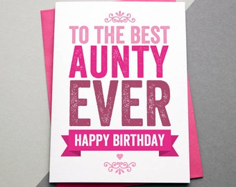 Aunt Birthday Card