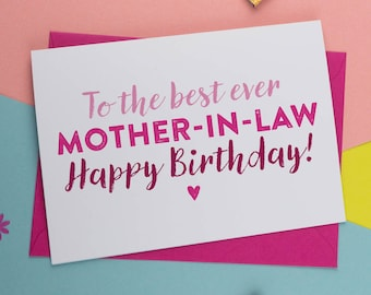 Mother in law card etsy best mother in law ever card for mother in law mother in law birthday card card for mother birthday card the best card m4hsunfo