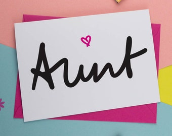 Personalised Aunt Birthday Card