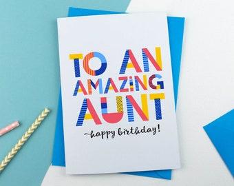 Amazing Aunt Personalised Card