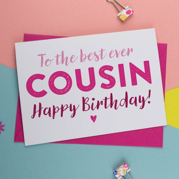 Best Cousin Ever Cousin Birthday Card Birthday Card For Etsy