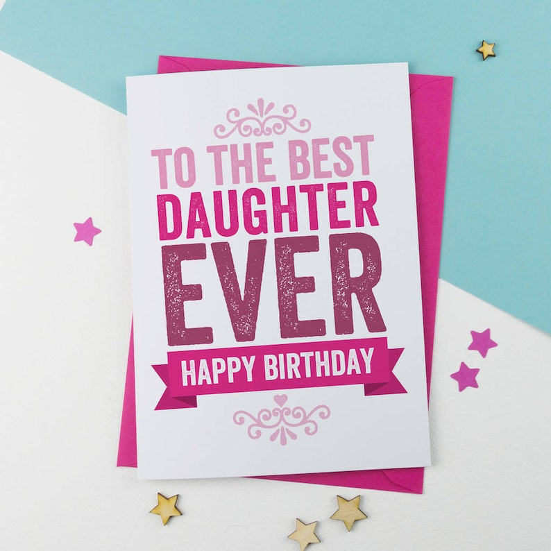 Daughter Birthday Card For