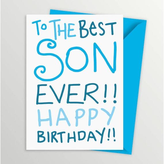 Birthday Card For Son.Handdrawn Son Card Son Birthday Card Birthday Card For Son Birthday Card Unique Card Card For Son Handdrawn Card
