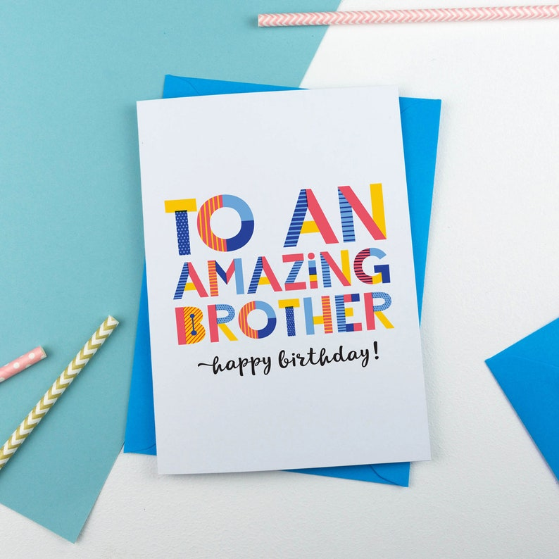 Amazing Brother Personalised Card Personalised Card Card Etsy