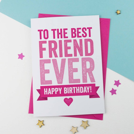 Stupendous Best Friend Birthday Card Friend Birthday Card Bold Etsy Funny Birthday Cards Online Aboleapandamsfinfo