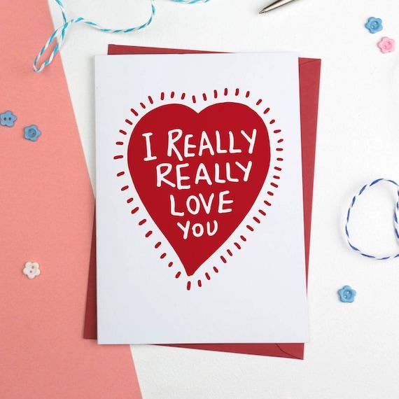 Heart Love You Card I Romantic