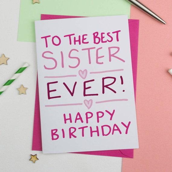 SISTER BIRTHDAY CARDS