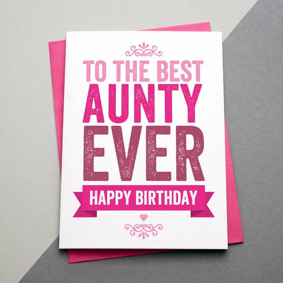 Aunt Birthday Card For