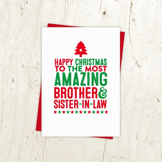 Brother and sister in law christmas card in laws christmas etsy image 0 m4hsunfo