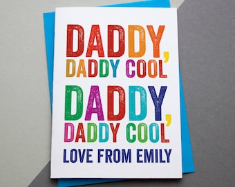 Personalised Father's Day Card | Cool Father's Day Card | Daddy Birthday Card | Card for Dad | Card For Daddy | Dad Birthday Card