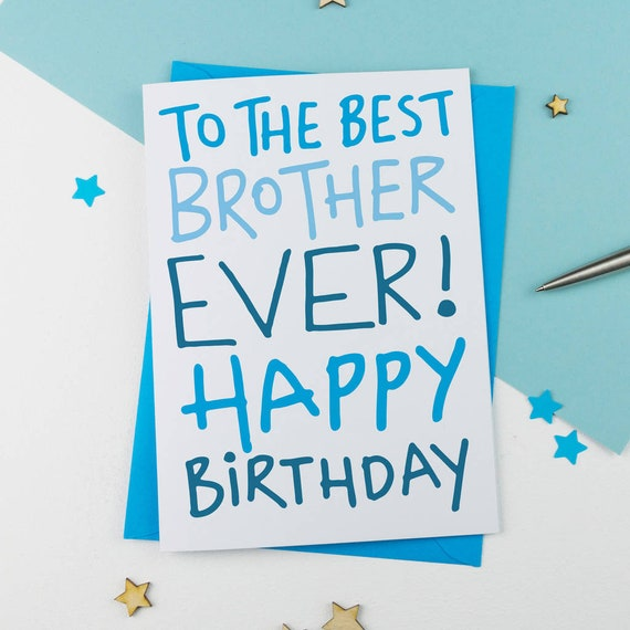 Handdrawn Brother Card | Brother Birthday Card | Card for Brother |  Birthday Card | Unique Card | Handdrawn Card | Classic Card